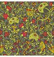 Cartoon mushroom pattern vector