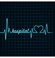Heartbeat make a hospital text and heart symbol vector