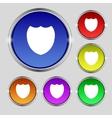 Shield sign icon protection symbol set colour vector