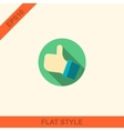 Flat style with long shadows thumbs up vector