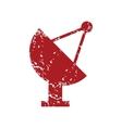 Red grunge satellite antenna logo vector