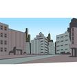 Comics city street scene background vector