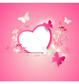 Valentine background with paper heart vector