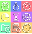 Set of flat time icons vector