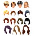Fashion hair styles vector