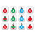 Christmas ball christmas bauble buttons se vector