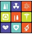 Medicine icons square vector