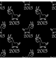 Seamless pattern with goat vector