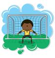 African-american soccer goalkeeper vector