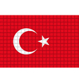 The mosaic flag of turkey vector