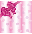 Light pink background with ribbon and bow vector