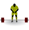 Silhouette of weightlifter vector