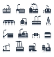Industrial building icons black vector