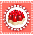 Background with fruit jelly dessert vector