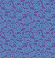 Dark blue blueberry seamless pattern vector