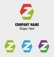 Z alphabet logo letter z icon vector