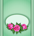 Roses postcard green vector