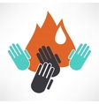 An isolated hand icon vector