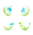 Four ecological icons vector