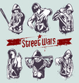 Gangster stencils vector