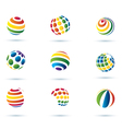 Set of abstract globe icons vector