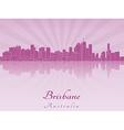Brisbane skyline in purple radiant orchid vector