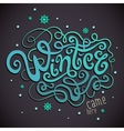 Winter hand lettering vector
