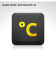 Temperature celsius icon gold vector