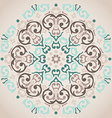 Circular turquoise and beige ornament vector
