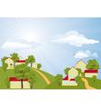 Summer rural landscape vector