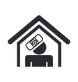 Home accident icon vector