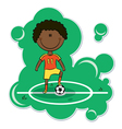 African-american soccer player vector
