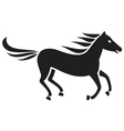 Running horse silhouette vector