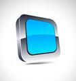 Blue square icon vector