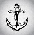 Anchor icon solated nautical heavy iron symbol vector