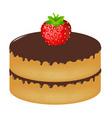 Birthday cake wit strawberry vector