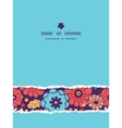 Colorful bouquet flowers vertical torn seamless vector