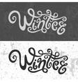 Winter hand lettering - handmade calligraphy vector