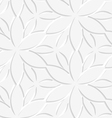 White floral perforated seamless vector