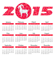 Red goat calendar 2015 vector