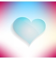 Red heart glassy beautiful icon love concept vector