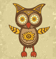 Old style owl vector