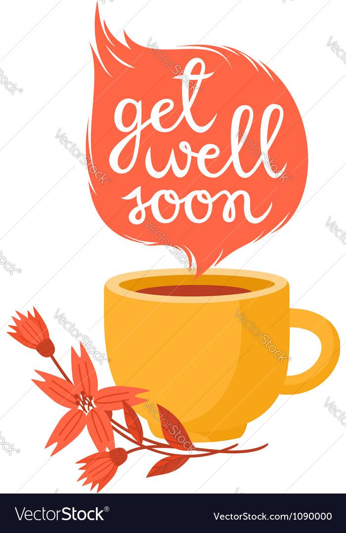 Get well soon vector image