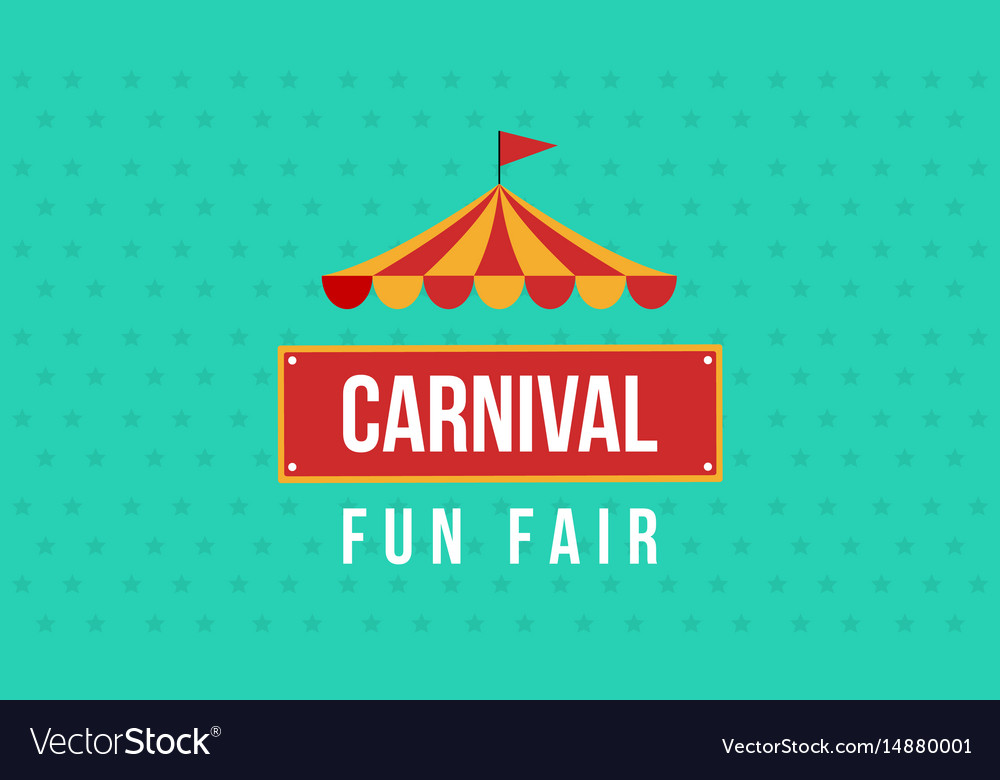 Carnival fun fair theme design vector image