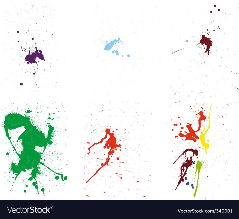 Grunge pattern set vector image