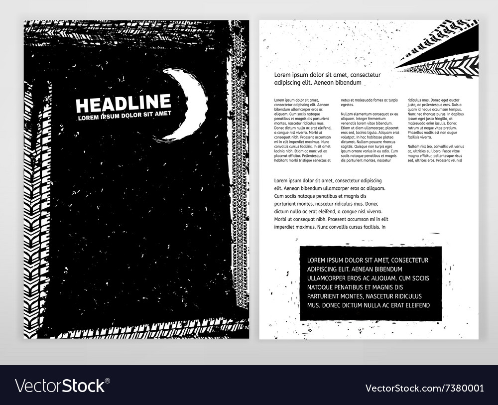 Grunge Tire Brochure vector image