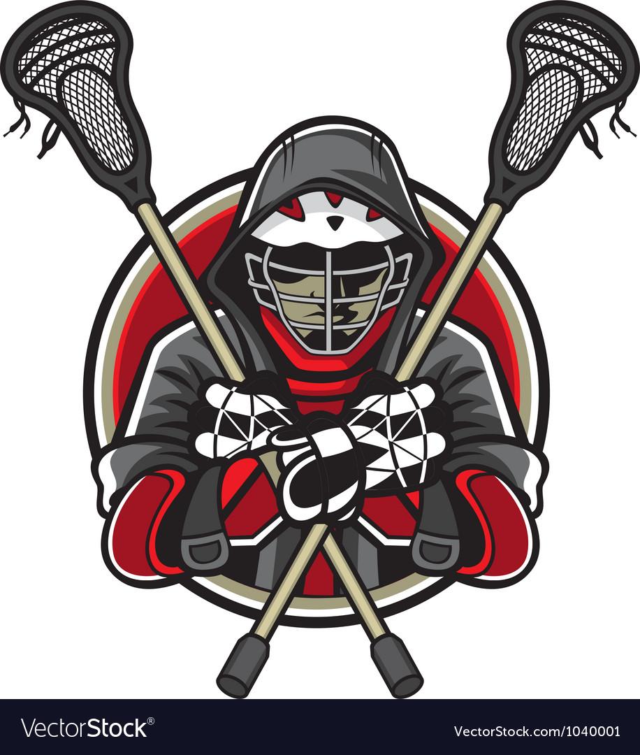 Lacrosse Mascot vector image