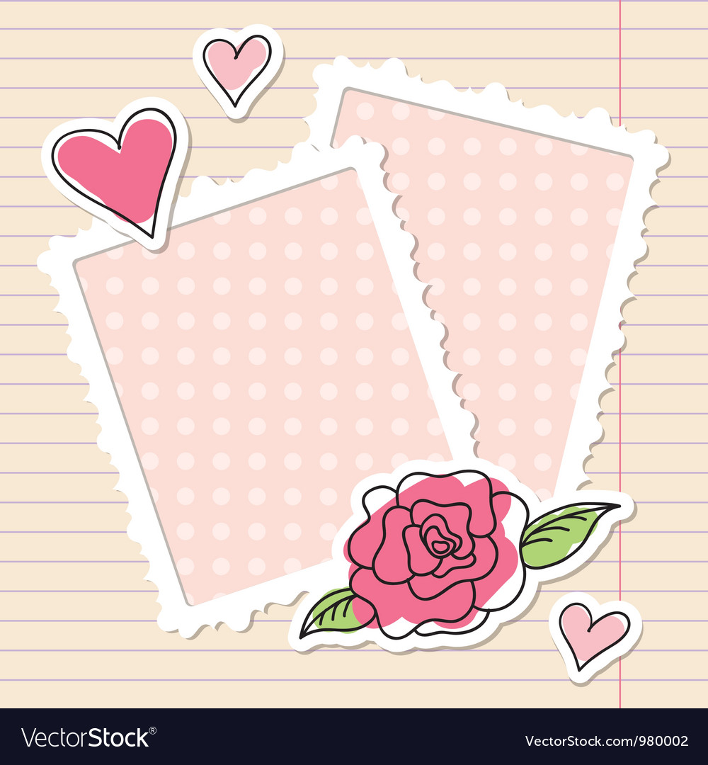 Frames and rose vector image