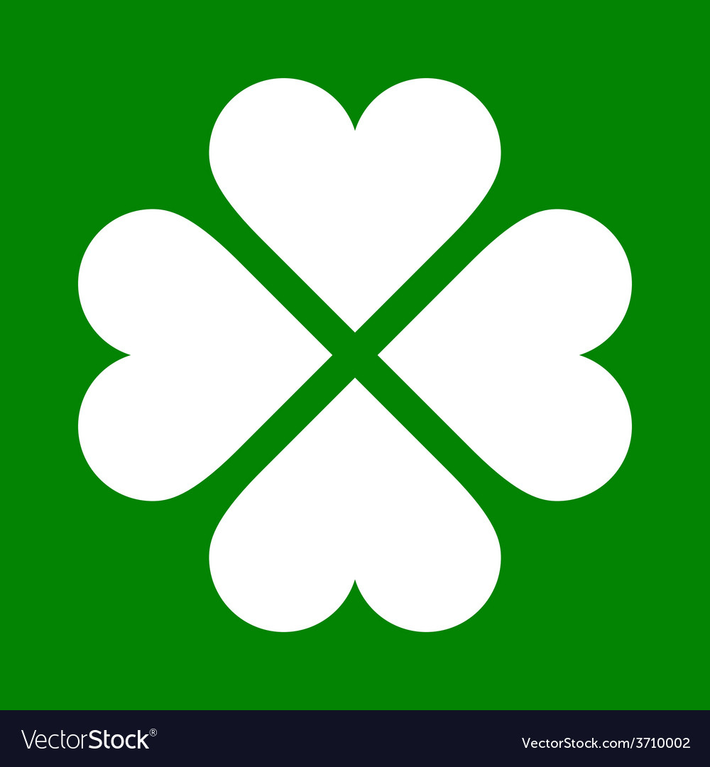 Clover with four leaves icon saint patrick symbol vector image clover with four leaves icon saint patrick symbol vector image biocorpaavc