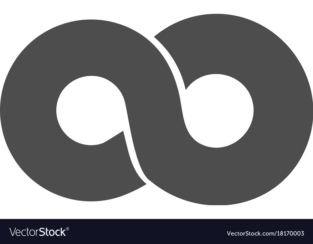 Infinity symbol loop figure 8 icon eternity logo vector image biocorpaavc Gallery